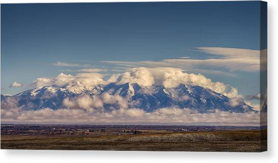 Mount Blanca With Skirt And Hat Canvas Print
