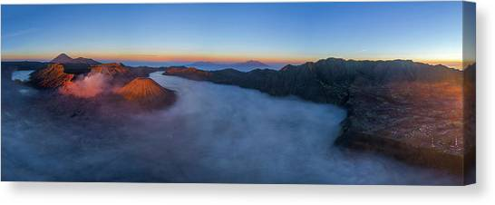 Canvas Print featuring the photograph Mount Bromo Scenic View by Pradeep Raja Prints