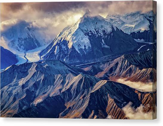 Tundras Canvas Print - Mount Brooks From Above by Rick Berk