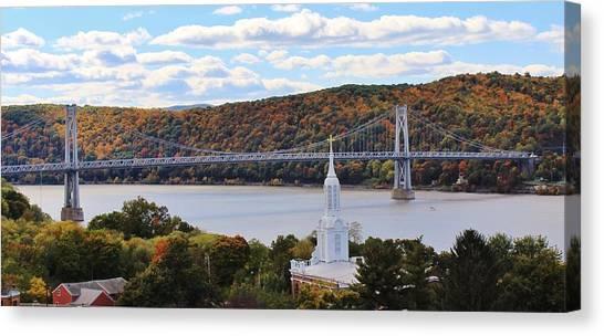 Mount Carmel And The Mid Hudson Bridge Canvas Print