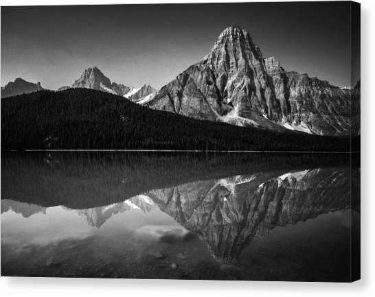 Mount Chephren Reflection Canvas Print