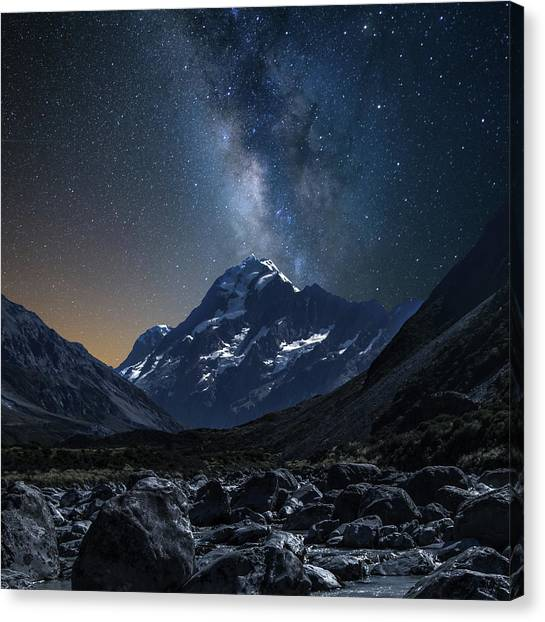 Mount Cook At Night Canvas Print