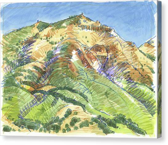 Mount Diablo From Curry Valley Ridge Canvas Print