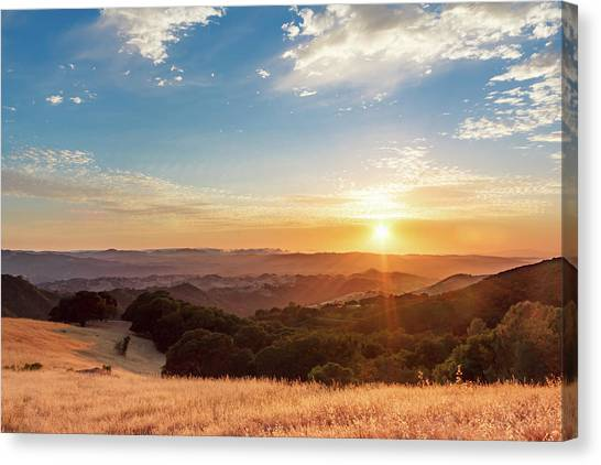Mount Diablo Sunset Canvas Print