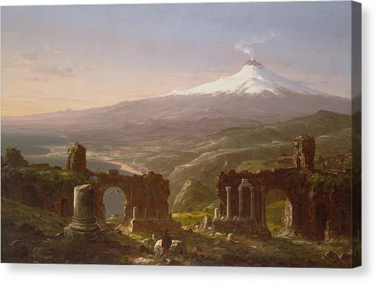 Mount Etna Canvas Print - Mount Etna From Taormina by MotionAge Designs