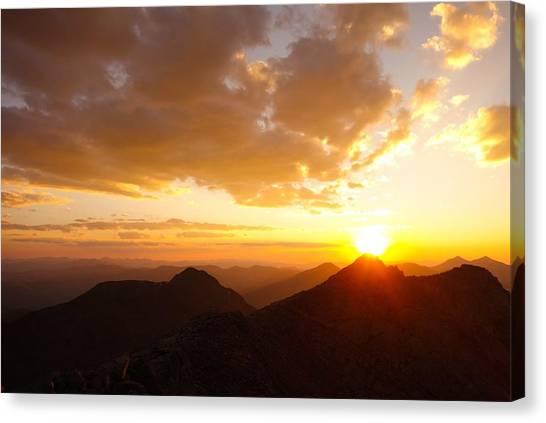 Mount Evans Sunset Canvas Print