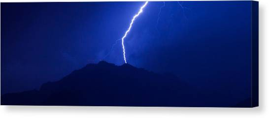 Mount Franklin Lightning Canvas Print
