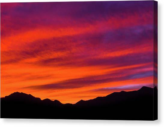 Mount Franklin Purple Sunset Canvas Print