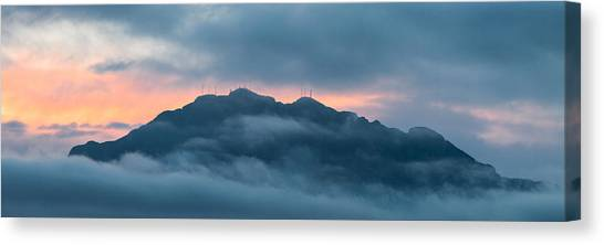 Mount Franklin Stormy Winter Sunset Pano Canvas Print
