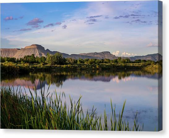 Mount Garfield In The Evening Light Canvas Print