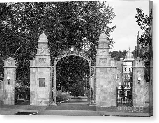 Gates Canvas Print - Mount Holyoke College Field Gate by University Icons