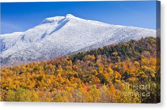 Mount Mansfield Seasonal Transition Canvas Print