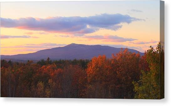 Mount Monadnock Autumn Sunset Canvas Print