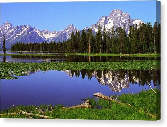 Mount Moran Tetons Nat'l Park Canvas Print by Alan Lenk