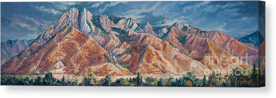 Mount Olympus In Autumn  Canvas Print