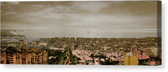 Canvas Print featuring the photograph Thessaloniki, Greece - Mount Olympus by Mark Forte