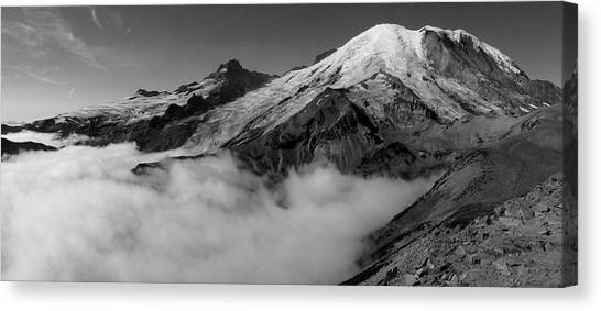 Mount Rainier Canvas Print - Mount Rainier Above The Clouds by Ryan Scholl