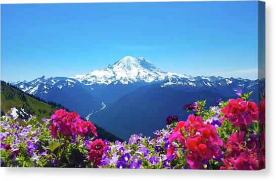 Mount Rainier Canvas Print - Mount Rainier by Art Spectrum