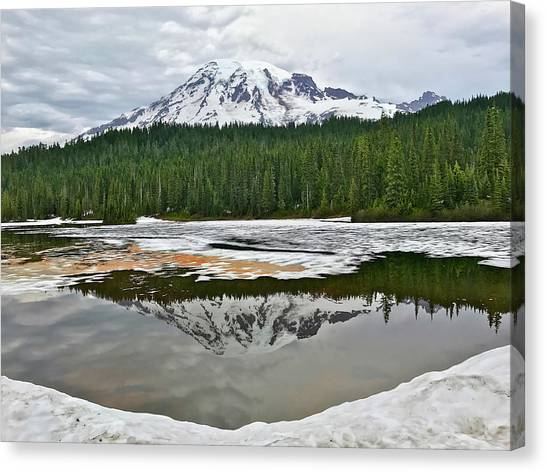 Mount Rainier From Reflection Lakes Canvas Print