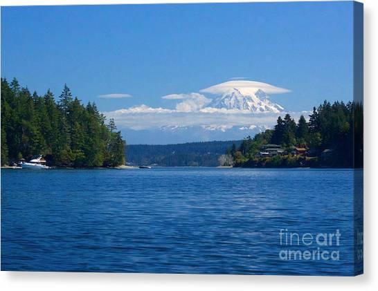 Mount Rainier Lenticular Canvas Print