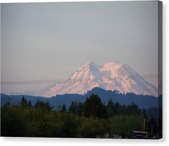 Mount Rainier Washington  Canvas Print by Laurie Kidd