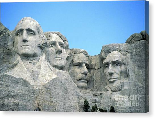 Thomas Jefferson Canvas Print - Mount Rushmore by American School