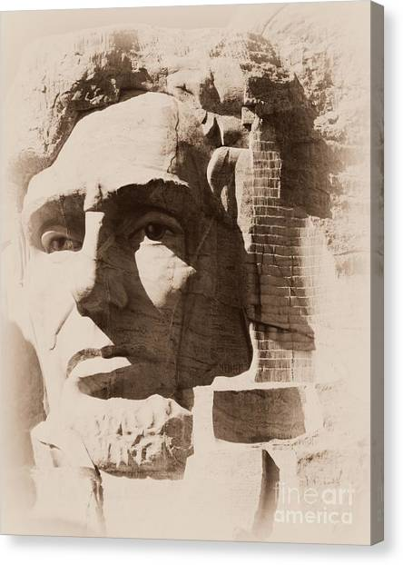 Mount Rushmore Faces Lincoln Canvas Print