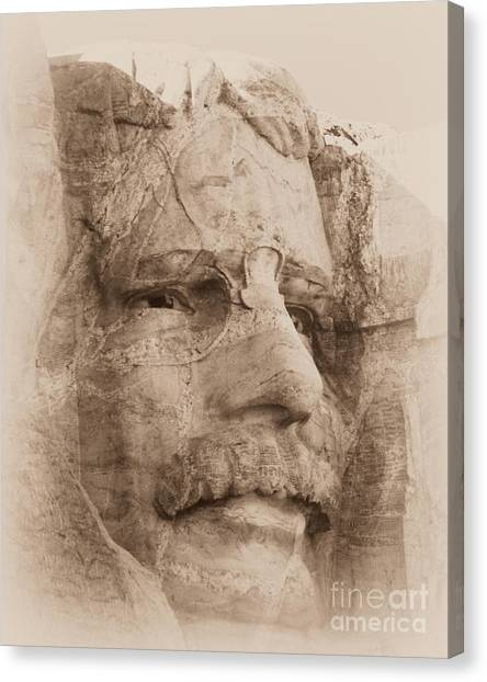 Mount Rushmore Faces Roosevelt Canvas Print