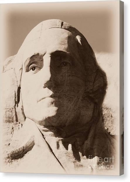 Mount Rushmore Faces Washington Canvas Print