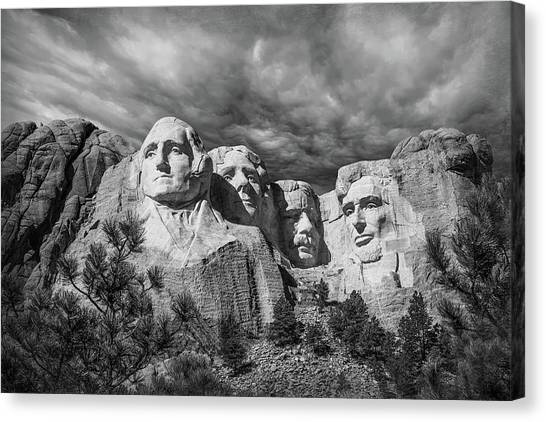 Thomas Jefferson Canvas Print - Mount Rushmore II by Tom Mc Nemar