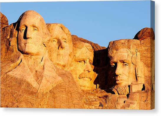 President Canvas Print - Mount Rushmore by Todd Klassy