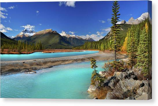 Jasper Johns Canvas Print - Mount Saskatchewan by John Poon