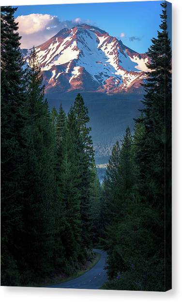 Mount Shasta - A Roadside View Canvas Print