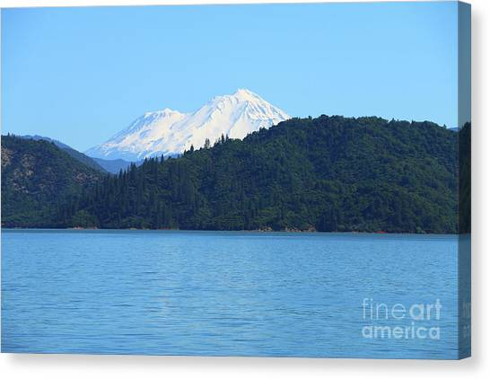Canvas Print - Mount Shasta And Shasta Lake by Christiane Schulze Art And Photography