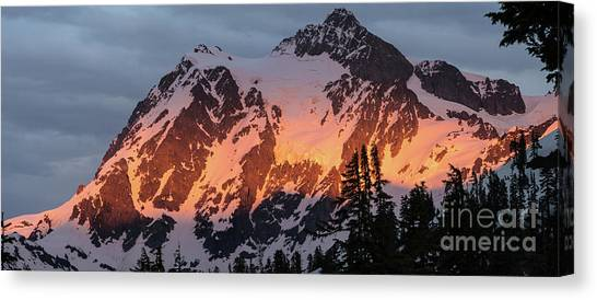 Table Mountain Canvas Print - Mount Shuksan Brilliant Alpenglow by Mike Reid