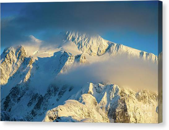 Table Mountain Canvas Print - Mount Shuksan Dusk Details by Mike Reid