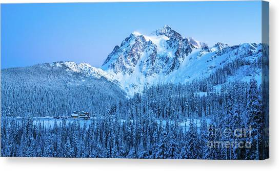Table Mountain Canvas Print - Mount Shuksan Winter Tranquility by Mike Reid