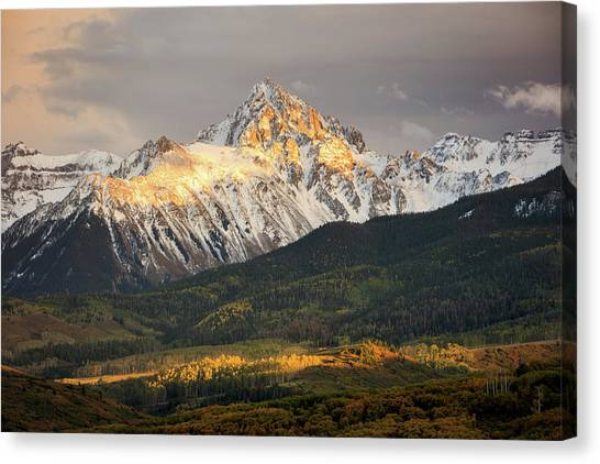 Mount Sneffels Sunset Canvas Print