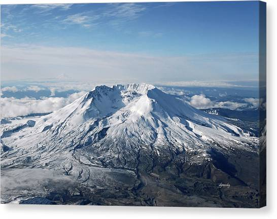 Mount St. Helens 0005 Canvas Print by David Mosby