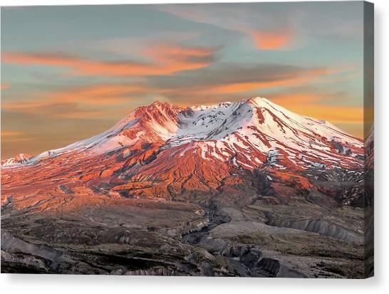 Mount St Helens Sunset Washington State Canvas Print