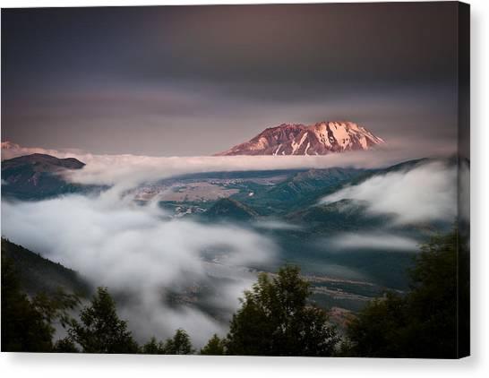 Mount St. Helens Canvas Print - Mount St Helens Twilight by Thorsten Scheuermann