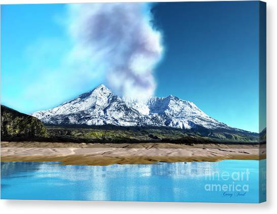 Mount St. Helens Canvas Print - Mount St. Helens Volcano by Corey Ford
