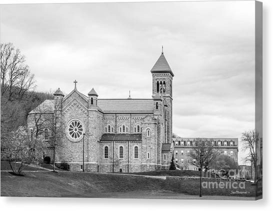 St Mary Canvas Print - Mount St. Mary's University Chapel by University Icons