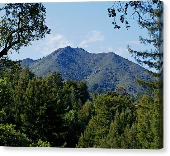 Canvas Print featuring the photograph Mount Tamalpais by Ben Upham III