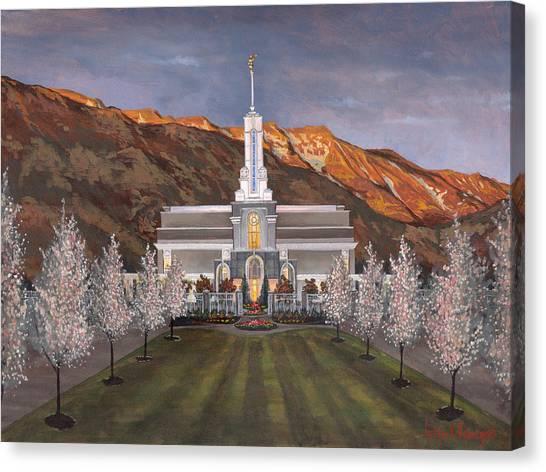 Mount Timpanogos Temple Canvas Print