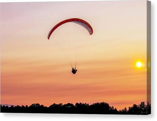 Mount Tom Parachute Canvas Print