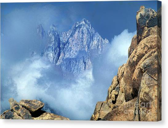 Mount Whitney Clearing Storm Eastern Sierras California Canvas Print