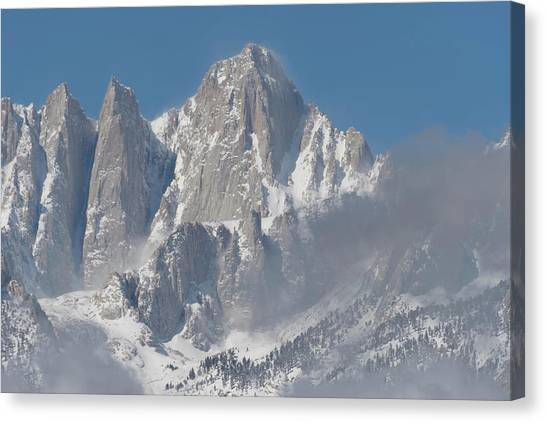 Mount Whitney In March Canvas Print