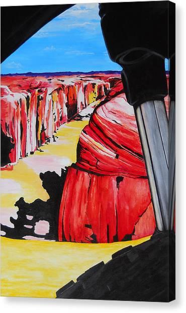 Mountain Bike Moab Slickrock Canvas Print