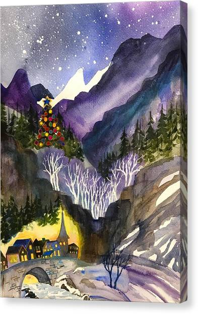 Mountain Christmas Canvas Print
